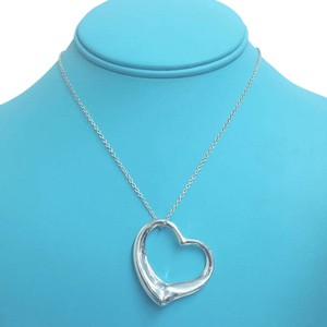 Tiffany & Co. STUNNING!!! Tiffany & Co. Extra Large Open Heart Elsa Peretti Necklace Sterling Silver 30