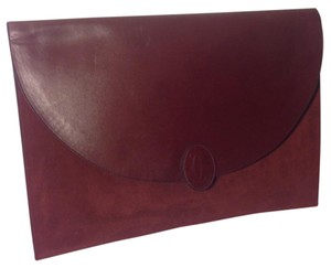 Cartier Burgundy Clutch