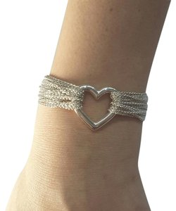 Tiffany & Co. GORGEOUS!! Tiffany & Co. Mesh Collection Multi-Strand Heart and Toggle Bracelet 7