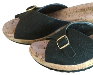 Skechers Black and gold Mules