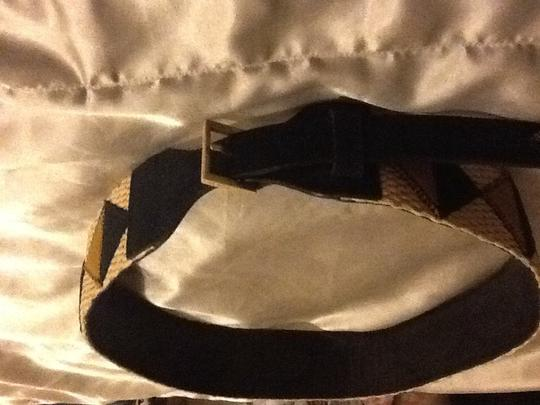 Tory Burch Tory Burch Patchwork Belt with logo on leather backing