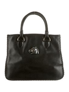 Barry Kieselstein-Cord Handbag Vintage Leather Tote in Black