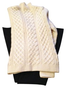 L Pure Cashmere Cable High Ply Knit Sweater