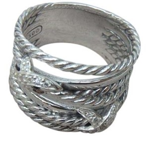 David Yurman crossover diamond X Ring size 6