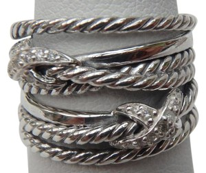 David Yurman crossover diamond X X Ring size 7