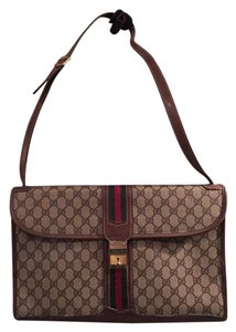 Gucci Woman's Briefcase Satchel in Brown (with original GG)