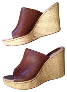 B.O.C. Mule Wedge Slip On Saddle Mules