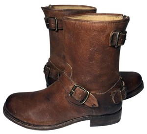 Frye 76601 Veronica Veronica Lady's Size 7.5 Motorcycle 7.5 Brown Boots