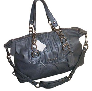 Coach Satchel in Smoke Gray