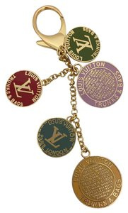 Louis Vuitton Trunks And Bags Multicolor Globes Key Chain Charm