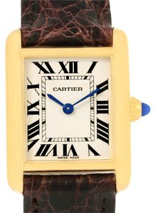 Cartier Cartier Tank Louis 18k Yellow Gold Ladies Watch W1529856 Box Papers