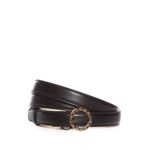 BVLGARI Leather Skinny Belt