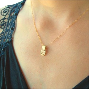 Other New Pineapple Necklace, Dainty Necklace, birthday present, Gift idea,
