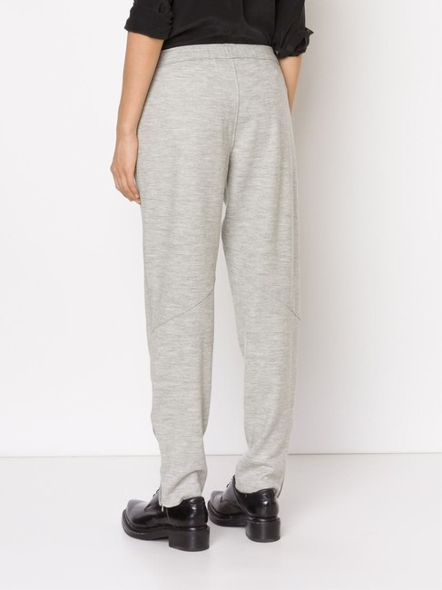 Rag & Bone RAG & BONE EUGENIA DRAWSTRING TRACK PANTS LIGHT GRAY 6 UNISEX Image 2