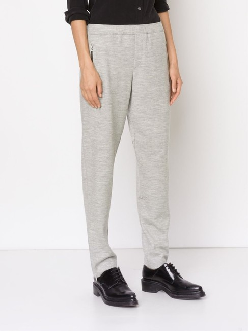 Rag & Bone RAG & BONE EUGENIA DRAWSTRING TRACK PANTS LIGHT GRAY 6 UNISEX Image 3