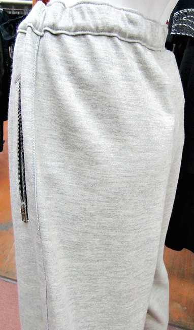 Rag & Bone RAG & BONE EUGENIA DRAWSTRING TRACK PANTS LIGHT GRAY 6 UNISEX Image 6