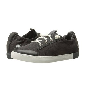 Timberland Canvas Oxford Pull-on Sneaker Organic Cotton Elastic Collar washed black (dark brown) Athletic
