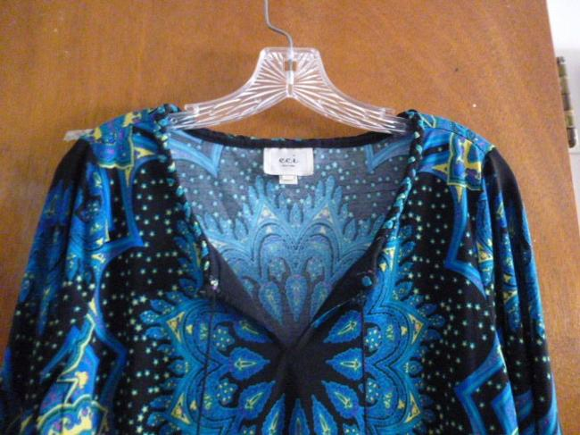 ECI New York Top Blue, black, and yellow Image 1