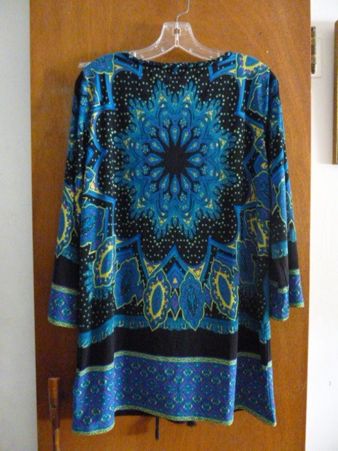 ECI New York Top Blue, black, and yellow Image 3
