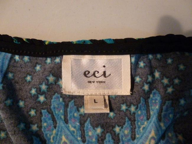 ECI New York Top Blue, black, and yellow Image 5
