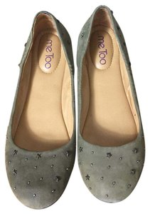 Me Too Suede Studs Olive Flats