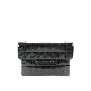 Chanel Vintage Keyboard Piano Collector Patent Black Clutch