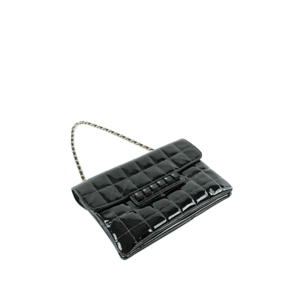 bab974840c08 Chanel Vintage Keyboard Piano Collector Patent Black Clutch Image 11.  123456789101112