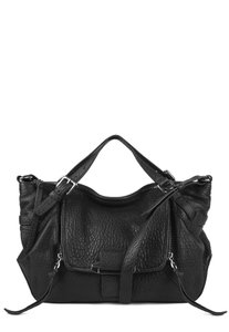 Kooba Pebbled Leather Antique Satchel in Black
