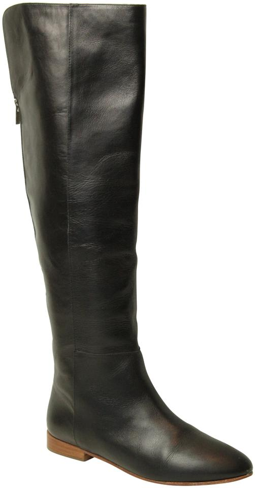 Loeffler Randall Black Leather High Knee High Leather Boots/Booties ca87e4
