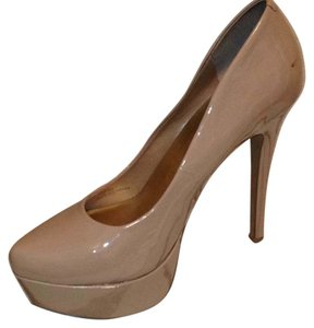 Jessica Simpson Patent Leather Nude Platforms