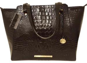 Brahmin Leather Large Tote in Black Melbourne