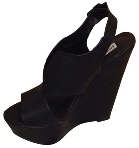 Steve Madden Wedge Platform Sandal Black Wedges