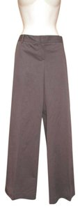 Theory Stretch Wide Leg Pants Taupe Brown