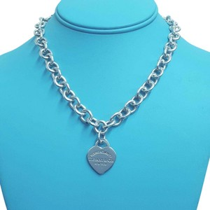 Tiffany & Co. CLASSIC!!! Tiffany & Co. Return to Tiffany Heart Tag Necklace Sterling Silver 16