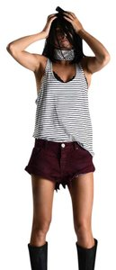 One Teaspoon Shorts Burgundy