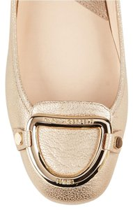 Karl Lagerfeld Sparkle Leather GOLD Flats