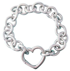 Tiffany & Co. BEAUTIFUL!! Tiffany & Co. Open Heart Clasp Sterling Silver Bracelet 7.5