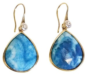 Henri Bendel Henri Bendel Large Blue Agate Teardrop Earrings