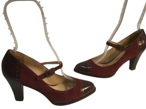 Cole Haan Cap Cute Foot Strap Insoles Comfort Burgundy suede all leather patent leather capped toe NikeAir Pumps