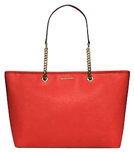 Michael Kors Satchel Ani Tote in sienna red