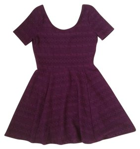 Divided by H&M short dress Maroon on Tradesy