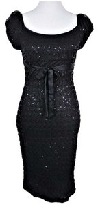 Betsey Johnson Scoop Neck Stretchy Wiggle Party Dress