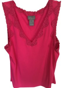Sigrid Olsen Small 71% Rayon 29% Polyester Lace Top Hot pink