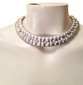Other Matte silver/gold with crystal choker