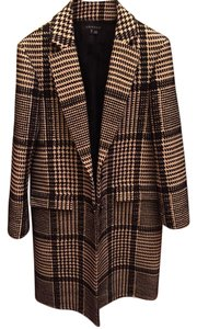 Theory Checkered Pea Coat
