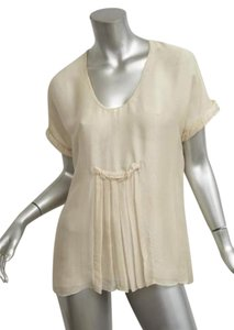 Stella McCartney Womens Pleated Top Ivory