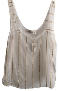 Abercrombie & Fitch Top white/Gold