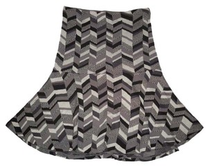 Anthropologie Moth Knit Chevron Mini Skirt