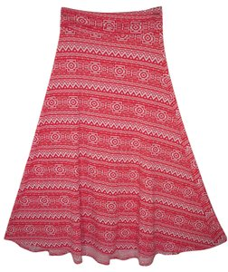 LuLaRoe Print Red White Holiday Maxi Skirt