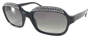 Chanel CHANEL Sunglasses Black with Crystals